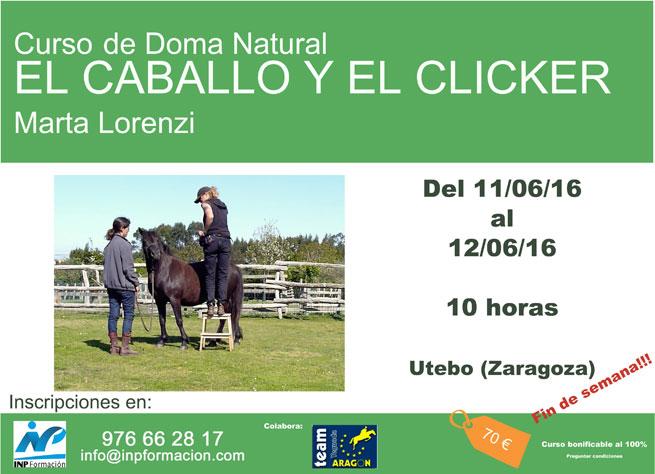 Cartel para web DOMA NATURAL MARTA LORENCI - CURSO DE DOMA NATURAL