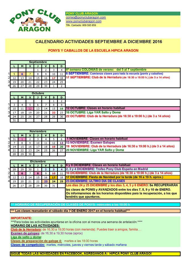 A4 Calendario 2016 Sept Dic para web - Calendario de Septiembre a Diciembre 2016