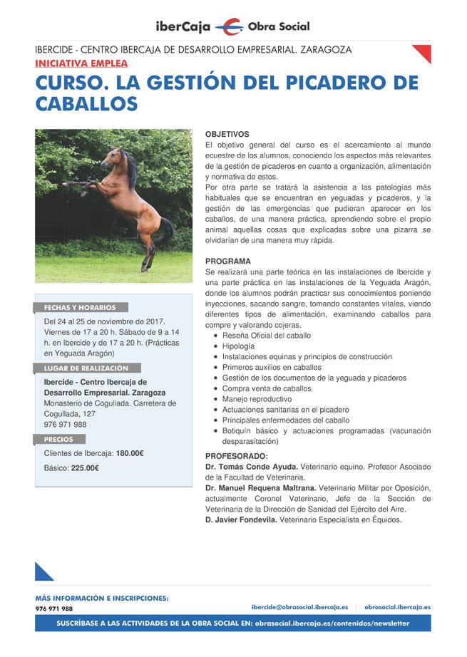 """ficha La gestión del picadero de caballos 2 web - CURSO """"LA GESTIÓN DEL PICADERO DE CABALLOS"""""""